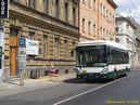 Škoda 24 Tr ev.è. 519 projíždí kolem uzavøeného nástupištì zastávky Tylova, kvùli rekonstrukci domu. - 20.7.2015